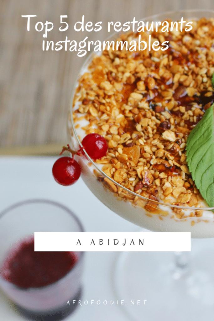 restaurants instagrammables à Abidjan